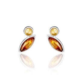 Boucles D'oreilles Argentambre Multicolore - Boucles d'oreilles fantaisie Femme | Histoire d'Or