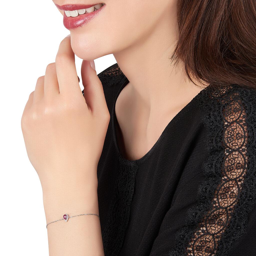 Bracelet Juliettina Or Blanc Rubis Et Diamant - Bijoux Femme   Histoire d'Or