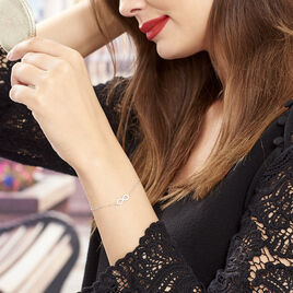 Bracelet Maryeme Infini Selectra Or Blanc - Bracelets Infini Femme | Histoire d'Or