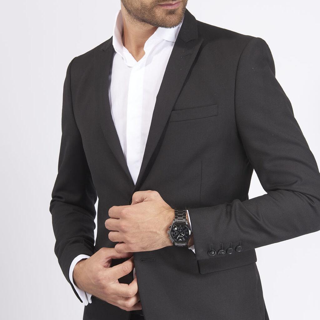 Montre Emporio Armani Valente Noir - Montres tendances Homme | Histoire d'Or
