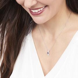 Collier Or Blanc Saphir Et Diamant - Bijoux Femme | Histoire d'Or