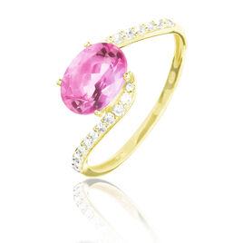 Bague Loriane Or Jaune Tourmaline Et Diamant - Bagues solitaires Femme | Histoire d'Or