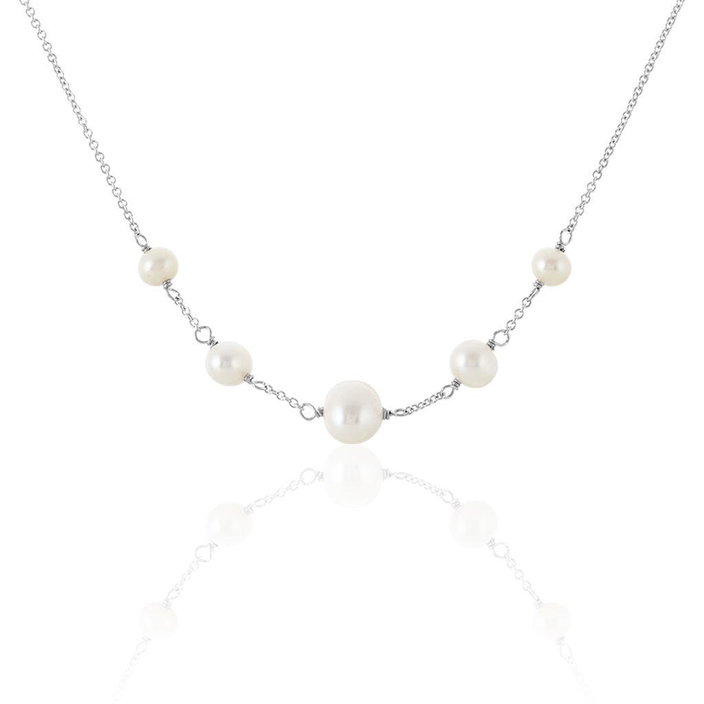 Collier Nephtysae Argent Blanc Perle De Culture - Colliers fantaisie Femme | Histoire d'Or