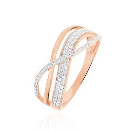 Bague Emilie Or Rose Diamant - Bagues avec pierre Femme | Histoire d'Or