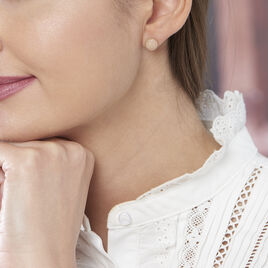 Boucles D'oreilles Argent Dore Martina Puce Boule - Boucles d'oreilles fantaisie Femme | Histoire d'Or