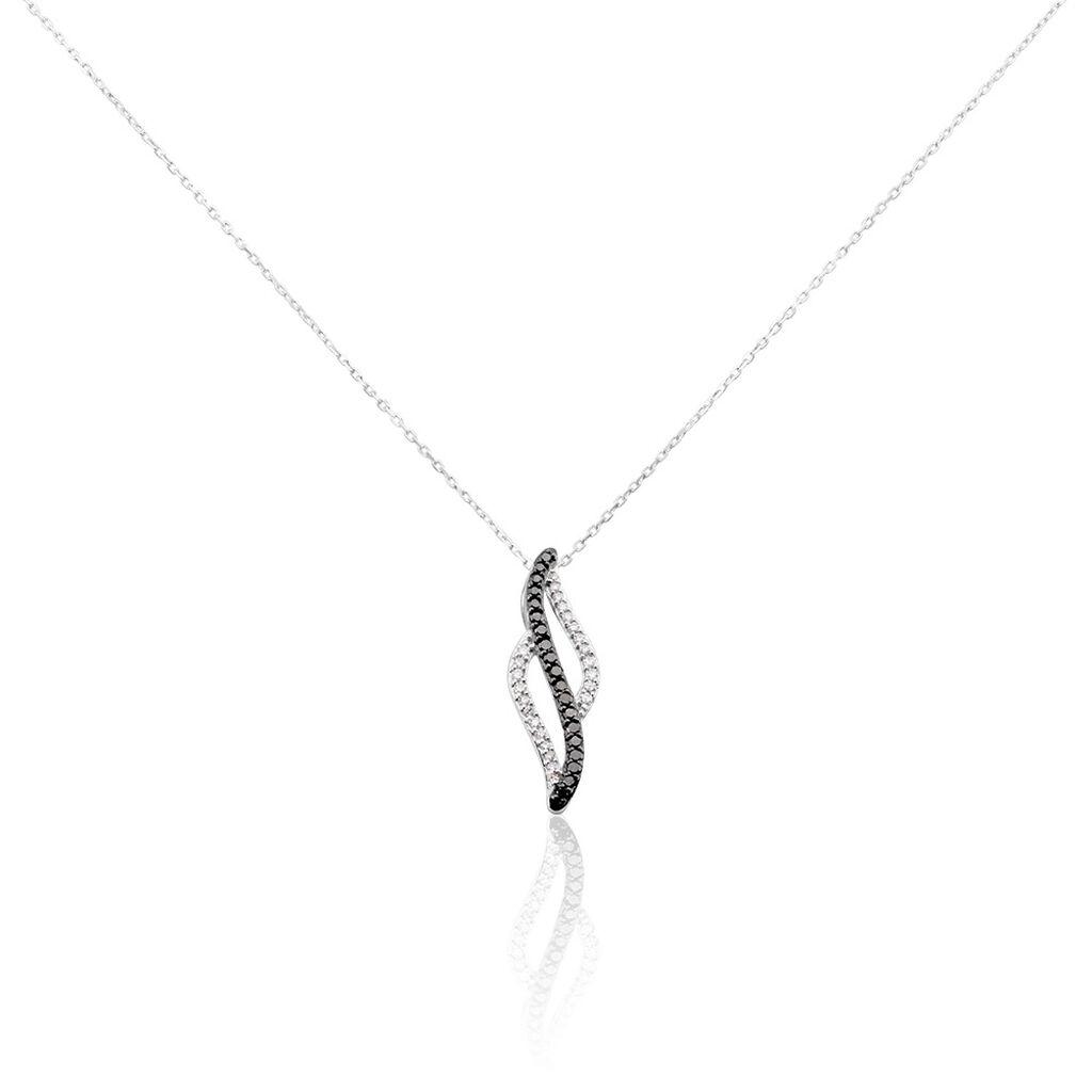 Collier Courbes Or Blanc Diamant - Bijoux Femme | Histoire d'Or