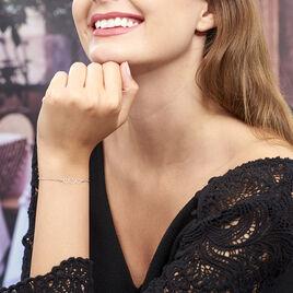 Bracelet Love Love Argent Blanc - Bracelets Coeur Femme | Histoire d'Or