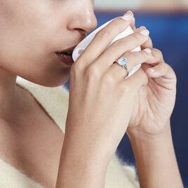 Bague Lis Or Blanc Topaze - Bagues solitaires Femme | Histoire d'Or