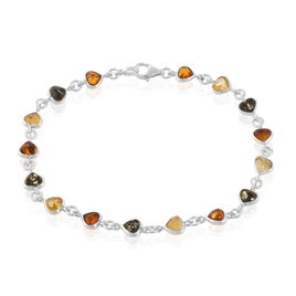 Bracelet Sanayaae Argent Blanc Ambre - Bracelets Coeur Femme | Histoire d'Or