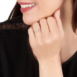 Bague Ariles Or Blanc Oxyde De Zirconium - Bagues Coeur Femme | Histoire d'Or