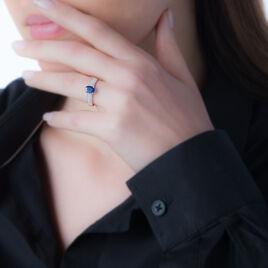 Bague Crista Or Blanc Topaze Et Diamant - Bagues solitaires Femme   Histoire d'Or