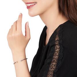 Bracelet Jonc Danae Argent Blanc Oxyde De Zirconium - Bracelets fantaisie Femme | Histoire d'Or