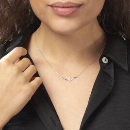 Collier Eva Or Blanc Oxyde De Zirconium - Colliers Coeur Femme | Histoire d'Or