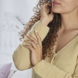 Bague Mylene Acier Blanc - Bagues Infini Femme | Histoire d'Or