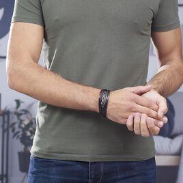 Bracelet Adriano Acier Blanc - Bracelets fantaisie Homme | Histoire d'Or