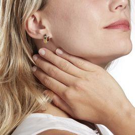 Boucles D'oreilles Puces Claudetteae Argent Blanc Ambre - Boucles d'oreilles fantaisie Femme   Histoire d'Or