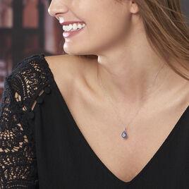 Collier Kenza Or Blanc Topaze Et Saphir Et Diamant - Bijoux Femme | Histoire d'Or