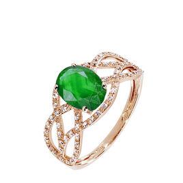 Bague Tina Or Rose Emeraude Et Diamant - Bagues avec pierre Femme | Histoire d'Or