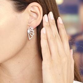 Boucles D'oreilles Pendantes Osaka Acier Blanc - Boucles d'oreilles fantaisie Femme   Histoire d'Or