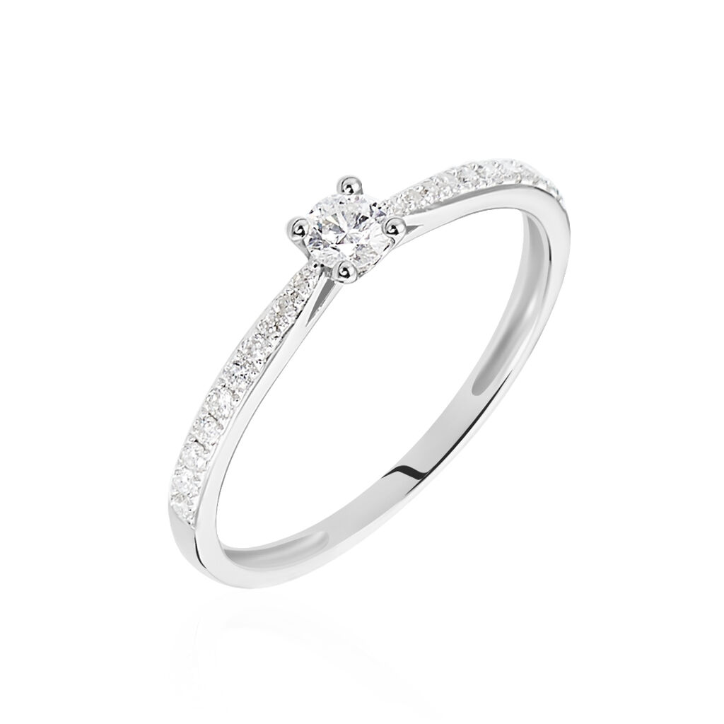 Bague Solitaire Laetitia Or Blanc Diamant