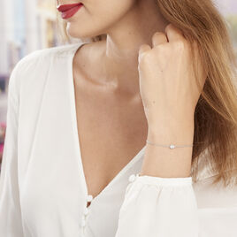 Bracelet Alda Argent Blanc Oxyde De Zirconium - Bracelets fantaisie Femme | Histoire d'Or