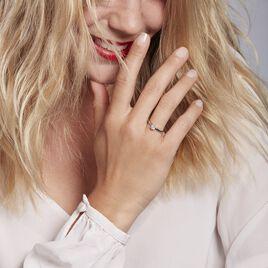 Bague Solitaire Natalia Pl Platine Blanc Diamant - Bagues solitaires Femme   Histoire d'Or