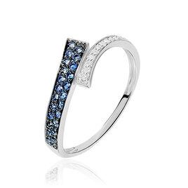Bague Amelie Or Blanc Saphir Et Diamant - Bagues avec pierre Femme | Histoire d'Or