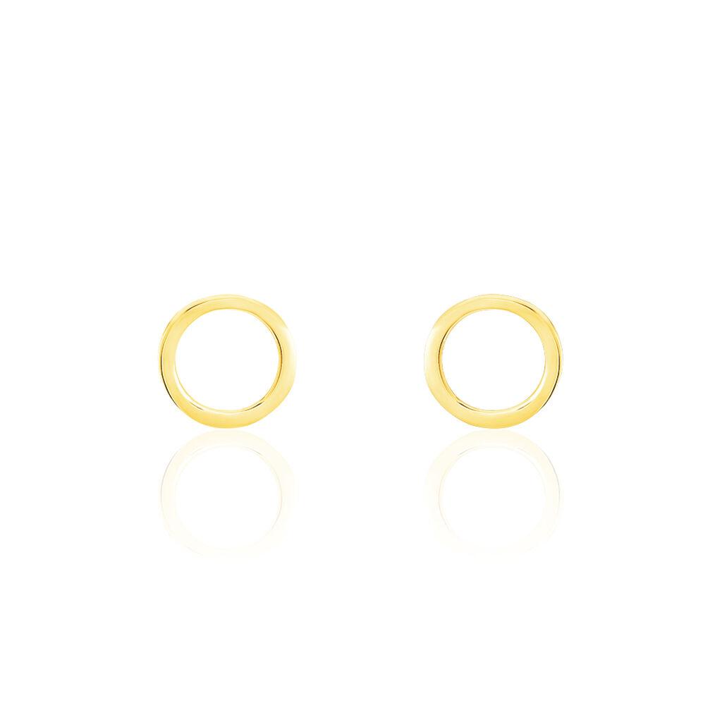 Boucles D'oreilles Puces Berangere Cercle Or Jaune - Clous d'oreilles Femme   Histoire d'Or