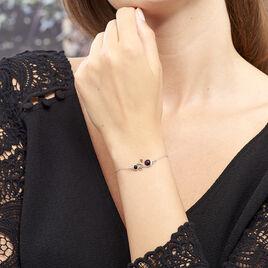 Bracelet Alexa Argent Blanc Ambre - Bracelets fantaisie Femme | Histoire d'Or