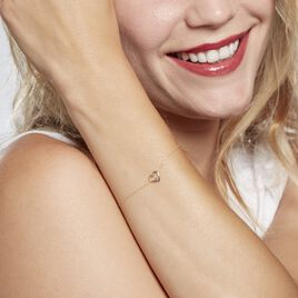 Bracelet Martella Or Jaune Rubis - Bracelets Coeur Femme | Histoire d'Or