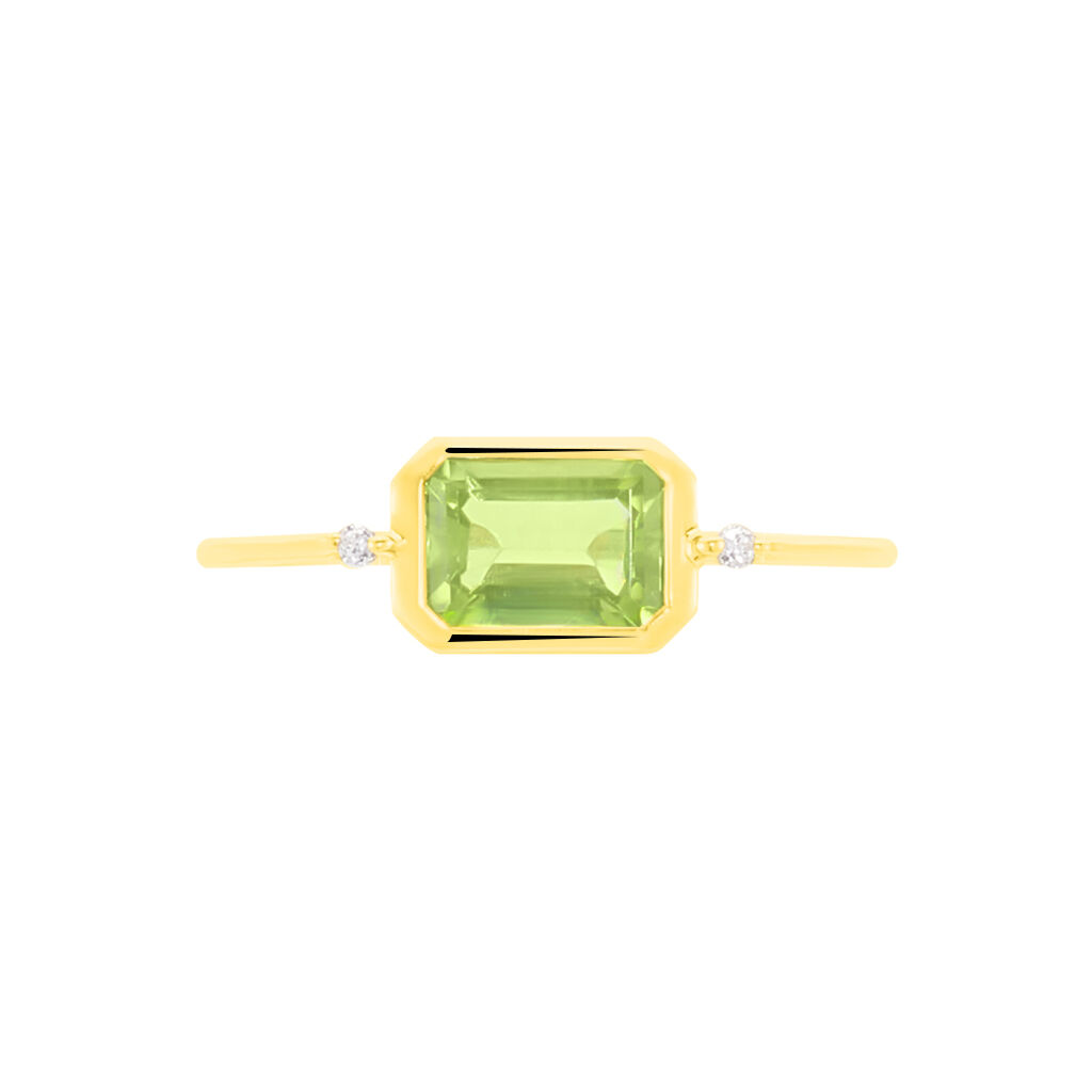 Bague Alwena Or Jaune Péridot Et Oxyde De Zirconium - Bagues avec pierre Femme | Histoire d'Or