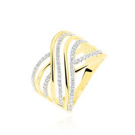 Bague Louange Or Jaune Diamant - Bagues avec pierre Femme | Histoire d'Or
