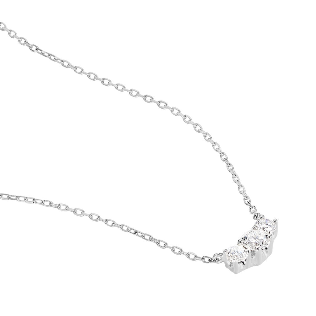 Collier Sabine Or Blanc Diamant