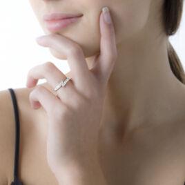 Bague Shahida Or Blanc Diamant - Bagues avec pierre Femme | Histoire d'Or