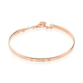 Bracelet Jonc Dreaming Argent Rose - Bracelets Coeur Femme | Histoire d'Or
