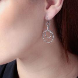 Boucles D'oreilles Pendantes Flaura Argent Blanc - Boucles d'oreilles fantaisie Femme | Histoire d'Or