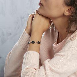 Bracelet Hattie Argent Blanc Céramique Et Oxyde De Zirconium - Bracelets fantaisie Femme | Histoire d'Or