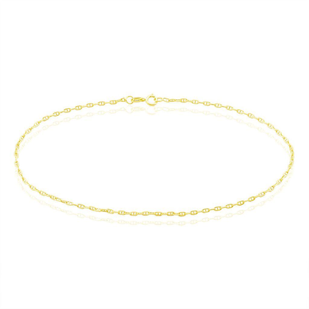 Chaîne De Cheville Maille Marine Or Jaune - Chaînes de cheville Femme | Histoire d'Or
