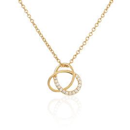 Collier Henia Plaque Or Jaune Oxyde De Zirconium - Colliers fantaisie Femme | Histoire d'Or