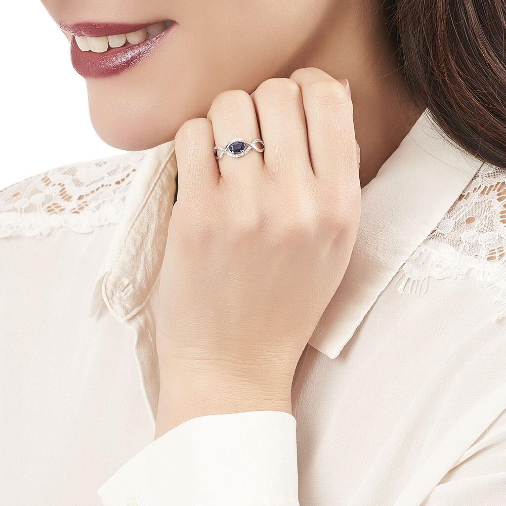 Bague Gulay Or Blanc Saphir Et Diamant - Bagues solitaires Femme   Histoire d'Or