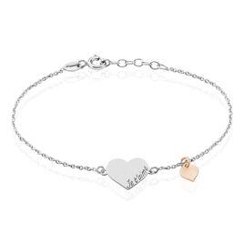 Bracelet Iella Argent Bicolore - Bracelets Coeur Femme   Histoire d'Or