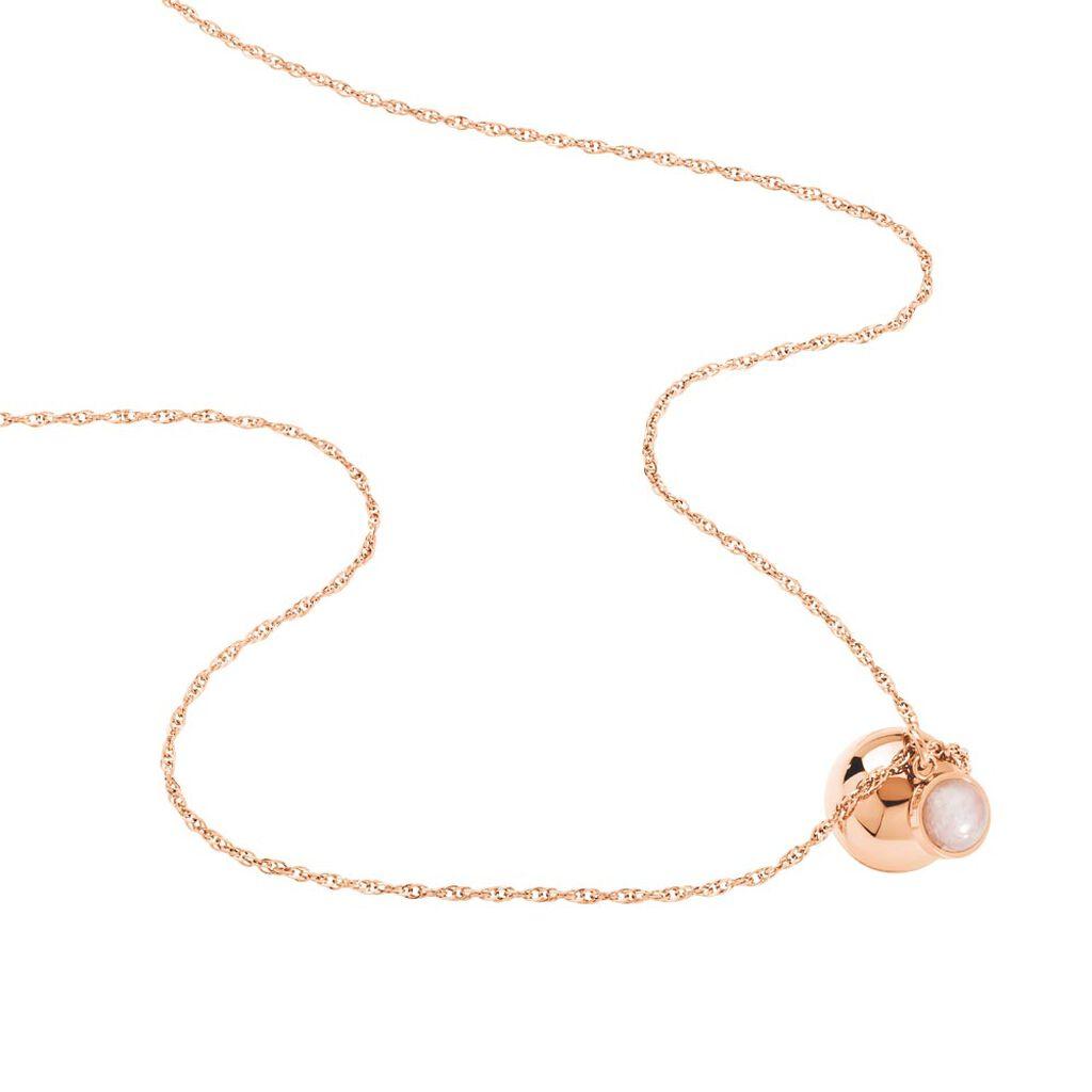 Collier My Bola Acier Rose Quartz - Colliers fantaisie Femme | Histoire d'Or