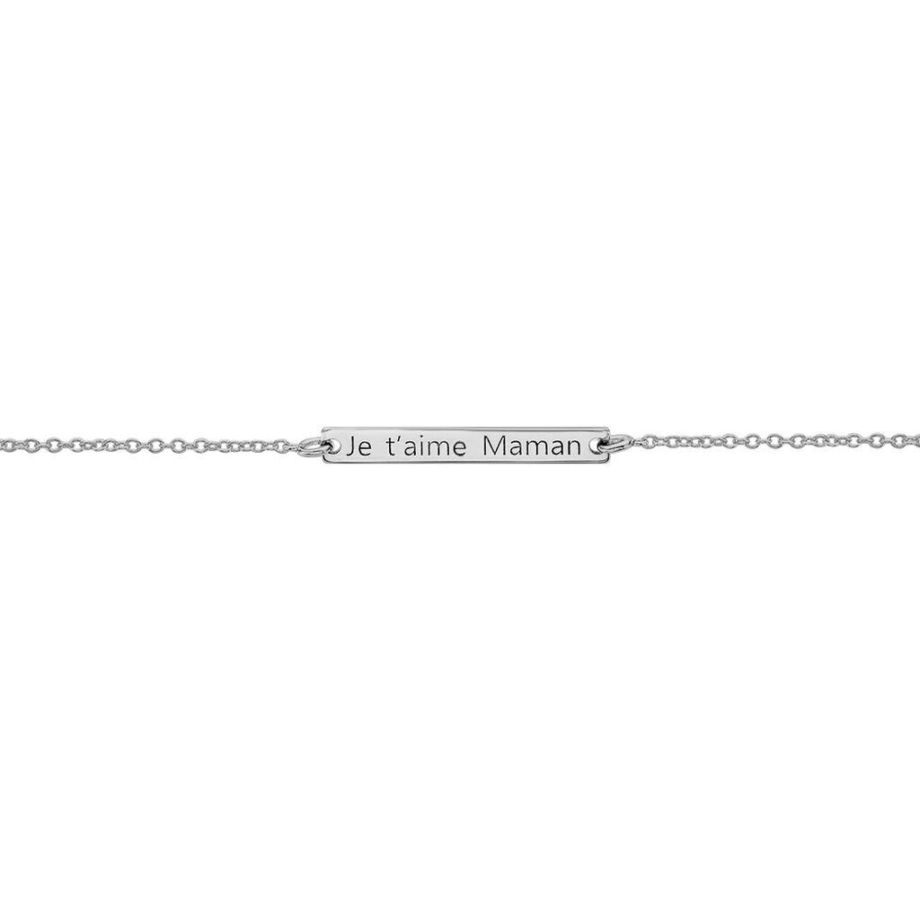 Bracelet Silia Argent Blanc - Bracelets fantaisie Femme   Histoire d'Or