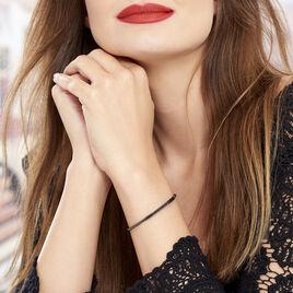 Bracelet Jonc Fuerza Argent Blanc Oxyde De Zirconium - Bracelets fantaisie Femme | Histoire d'Or