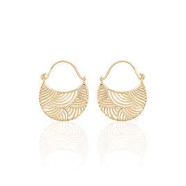 Boucles D'oreilles Sonia Plaque Or Vague - Boucles d'Oreilles Lune Femme | Histoire d'Or