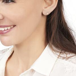 Boucles D'oreilles Puces Pastille Serti Clos Or Jaune Oxyde - Boucles d'Oreilles Coeur Femme | Histoire d'Or