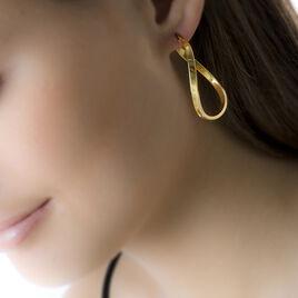 Créoles Silla Vrillees Fil Ovale Or Jaune - Boucles d'oreilles créoles Femme | Histoire d'Or