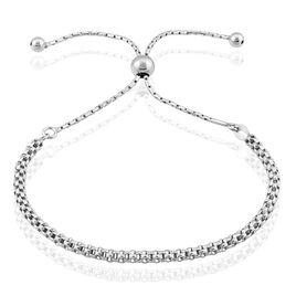 Bracelet Nahila Maille Popcorn Argent Blanc - Bracelets fantaisie Femme   Histoire d'Or