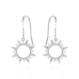 Boucles D'oreilles Pendantes Argent Blanc Oxyde De Zirconium - Boucles d'oreilles fantaisie Femme | Histoire d'Or