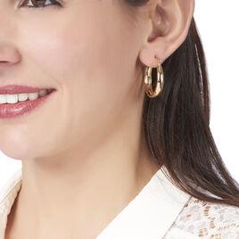 Créoles Shina Fil Large Plaque Or Jaune - Boucles d'oreilles créoles Femme   Histoire d'Or